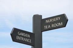 Garden centre sign Stock Image