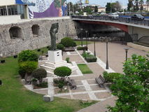 Garden ceuta,Ceuta, Spain. Old garden with monument in ceuta city Stock Images
