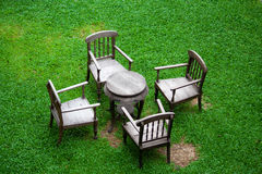 Garden and chair Royalty Free Stock Photography