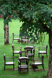 Garden and chair Royalty Free Stock Image