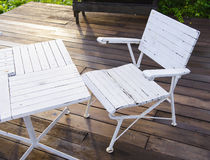 Garden chair Stock Images