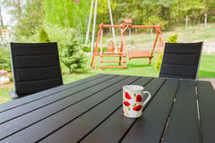 Garden chair and table Royalty Free Stock Photography