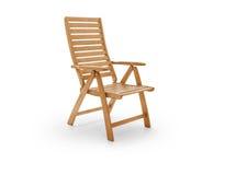 Garden chair on white Royalty Free Stock Photo