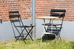 Garden chairs and table Royalty Free Stock Photo