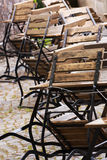 Garden chairs and tables Royalty Free Stock Images