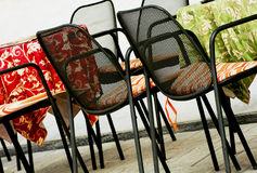 Garden chairs and tables Stock Images