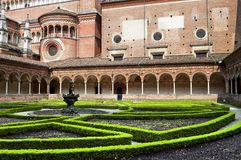 Garden charthouse monastery Royalty Free Stock Image