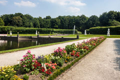 Garden of the chateau in Bruhl Stock Image