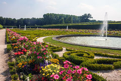 Garden of the chateau in Bruhl Stock Photos