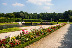 Garden of the chateau in Bruhl Stock Photo