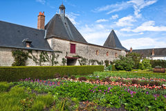 Garden at chateau Cheverny, France Royalty Free Stock Image