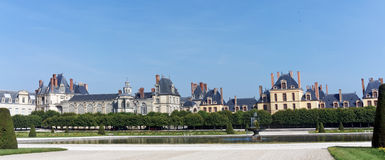 Garden  of the chateau de Fontainebleau Royalty Free Stock Images