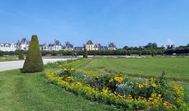 Garden  of the chateau de Fontainebleau Royalty Free Stock Photography