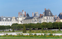 Garden  of the chateau de Fontainebleau Royalty Free Stock Image