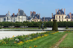 Garden  of the chateau de Fontainebleau Stock Images
