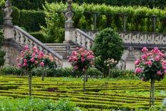 Garden in  Chateau de Villandr Stock Photo