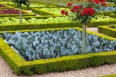 Garden in Chateau de Villandry stock photography