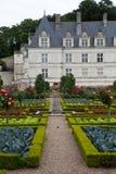 Garden in Chateau de Villandry stock photo