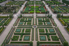 Garden of Chateau de Villandry, France. The Chateau de Villandry is a castle-palace located in Villandry, in the department of Indre-et-Loire, France Royalty Free Stock Images