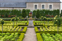 Garden in Chateau de Villandry. royalty free stock images