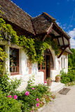 Garden of Chateau du Moulin stock photography