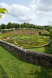 garden and chateau La Chatonniere near Villandry. Loire Valley Royalty Free Stock Images