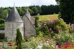 Garden and chateau La Chatonniere near Villandry. Loire Valley Royalty Free Stock Image