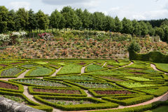 Garden and chateau La Chatonniere near Villandry. Loire Valley Royalty Free Stock Photography