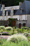 Garden and chateau La Chatonniere near Villandry. Subtle, sophisticated and full taste garden and chateau La Chatonniere near Villandry. Loire Valley Royalty Free Stock Photos