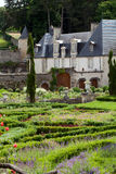 Garden and chateau La Chatonniere near Villandry. Subtle, sophisticated and full taste garden and chateau La Chatonniere near Villandry. Loire Valley Stock Image
