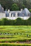 Garden and chateau La Chatonniere near Villandry. Stock Photography