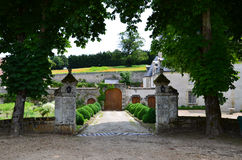 Garden and chateau La Chatonniere royalty free stock image