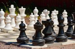 Garden chess set Stock Photo