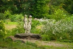 Garden children statue Stock Images