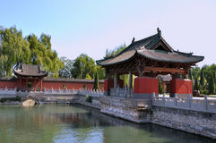 Garden in Chinese traditional temple Stock Images