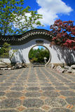 Garden chinese wall Royalty Free Stock Photo
