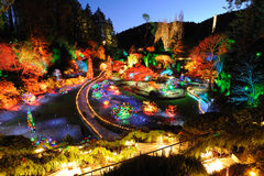 Garden christmas lighting Royalty Free Stock Image