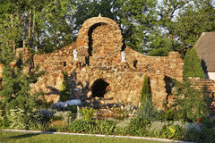 Garden of church of Jude Thaddaeus in Luchaj. Belarus Stock Photo