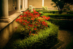 Garden in church Santa Maria delle Grazie Stock Photography
