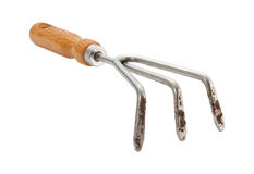 Garden Claw Cultivator with clipping path Royalty Free Stock Images