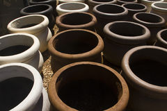 Garden clay plant pots Stock Images