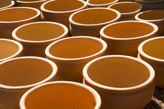 Garden clay plant pots Stock Image
