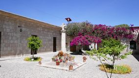 Garden in Cloisters of The Company Arequipa Peru