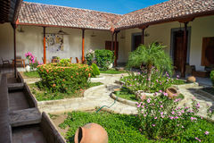 Garden from Colonial house from Nicaragua Stock Photo