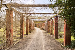 Garden colonnade. Short before spring time Royalty Free Stock Photography