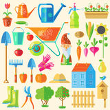 Garden Colored Icon Set Royalty Free Stock Photography