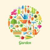 Garden Colored Poster Royalty Free Stock Photos