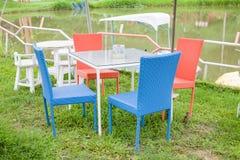 Garden colour chair in the garden Stock Image
