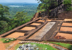 Garden complex in Sigiriya. Royalty Free Stock Photography