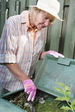 Garden composting Stock Images